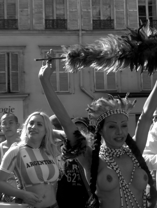 the trans and gay pride parade in Paris, summer 2006